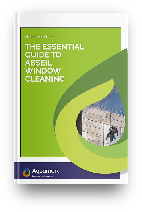 Abseil window cleaning - commercial window cleaning