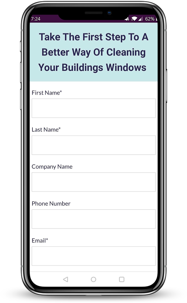 Commerical window request a quote - fill in form